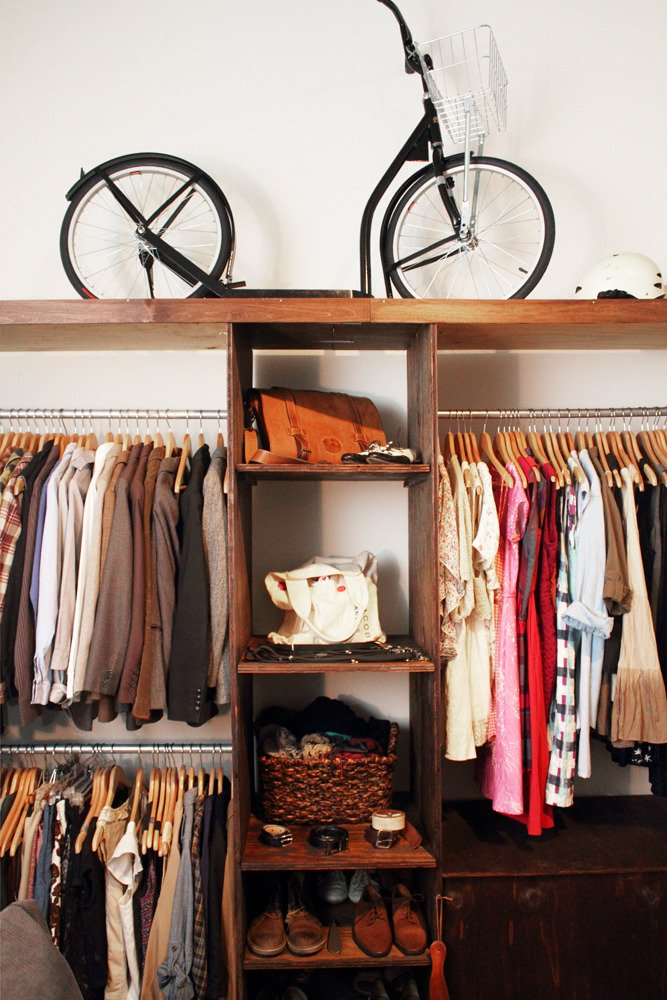 This is not my closet. Source: Apartment Therapy